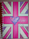 Love Life Union Jack Stationary Available in A5 or A6 HardBack Notebook & Weekly Planner.